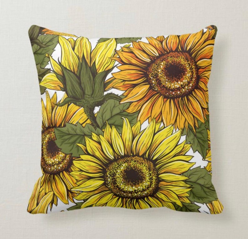 Sunflower Pillow Pillow and Insert 16 X 16 Totally image 0