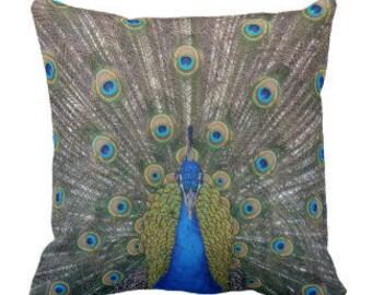 """Throw Pillow """"Peacock"""""""