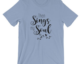 Bella Canvas Unisex Musical Christian T-Shirt Faith Tee Then Sings My Soul