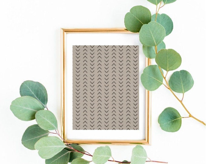 African Mudcloth Print, Poster, Gray Mudcloth Design Poster,  African Design, Mudcloth Pattern, African Pattern Poster, African Wall Art