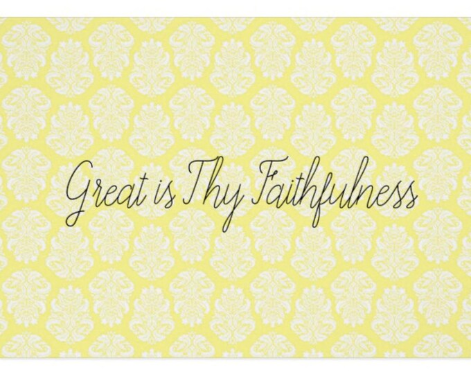 "Greeting Card ""Great is Thy Faithfulness"""
