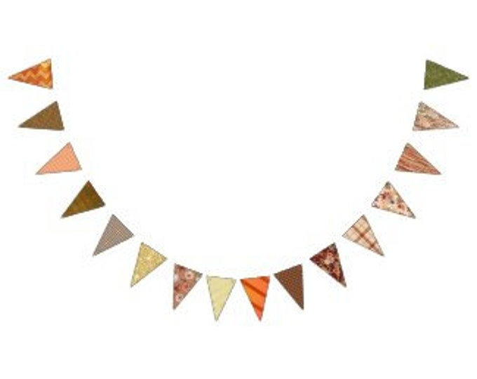 Fall Party Bunting Banner, Halloween Bunting Banner, Fall Porch Banner, Fall Mantle Banner, Halloween Party Bunting Banner, Fall Decor