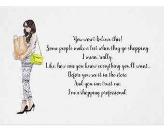 Funny Greeting Card for the Shopping Professional
