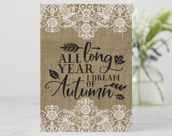"5 X 7 Greeting Card Ready to Frame ""Autumn"""