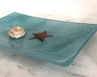 Starfish Glass Decorative Tray