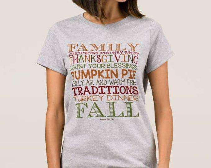 Women's Thanksgiving and Fall T-shirt