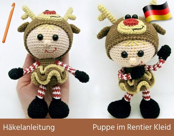 DIY Häkeln Amigurumi - Lustiges Rentier, Elch / Crochet Funny ... | 445x570