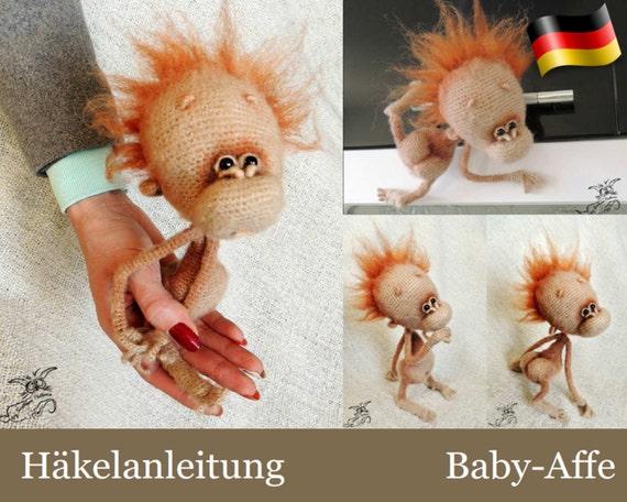 084de Häkelanleitung Baby Affe Amigurumi Pdf Pertseva Etsy Etsy