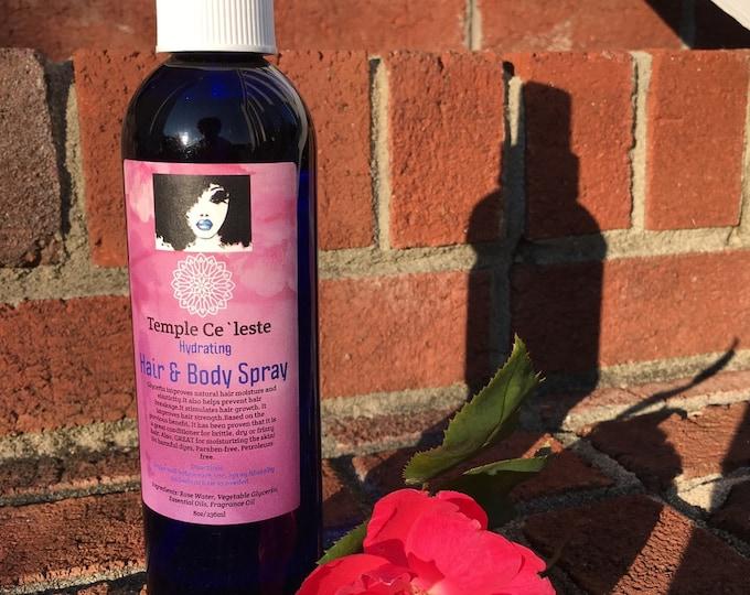 Hair & Body Moisturizing Spray (Hydrator)/Toner, Make-up Setting Spray, Moisturizer, Rose Water, Conditioning, refresher, detangler