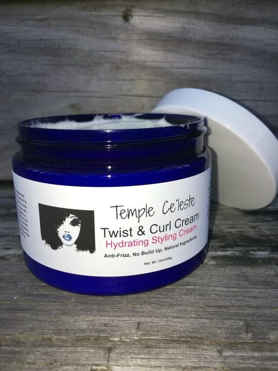 Twist & Curl Cream/All Natural, Hydrating Cream, Moisturizer, Flax Seed, Essential Oils, Scented, Braid-out, Anti-Frizz, Gel