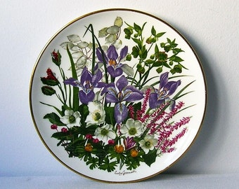 Collection plate, English China, FRANKLIN PORCELAIN, made in ENGLAND, antique porcelain,