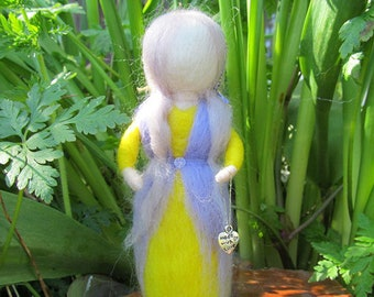 Needle Felted Waldorf inspired Maiden 'Thea'