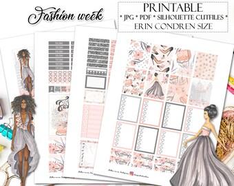 Fashion Planner Stickers for Erin Condren Lifeplanner/Printable Planner Stickers/Fashion weekly kit/May Monthly Planner Stickers/Weekly kit