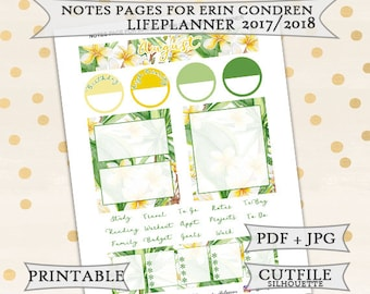 August Monthly Notes Page Stickers for Erin Condren Lifeplanner/Printable Planner Stickers/notes Page Planner Stickers/August Monthly kit