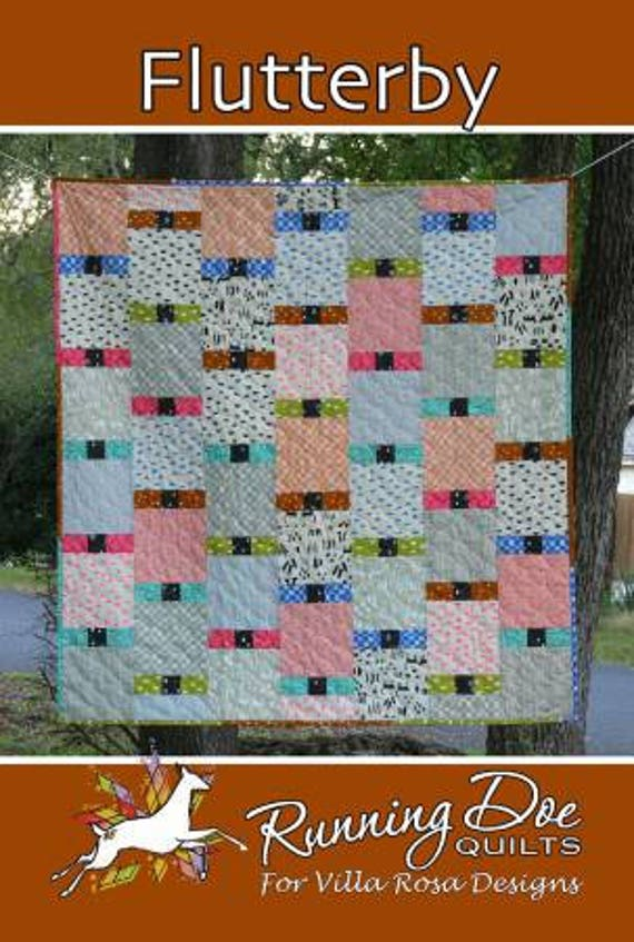 Flutterby Quilt Pattern Simple Piecing Beginner Friendly Etsy