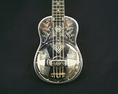 1933 NATIONAL UKULELE Style 2 quot Wild Rose quot German Silver Resonator Uke Vintage Original Gibson Martin