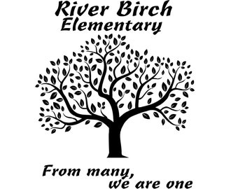 Custom order hoodie for River Birch Elementary