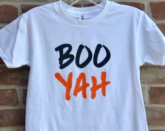 Boo Yah youth Halloween shirt.