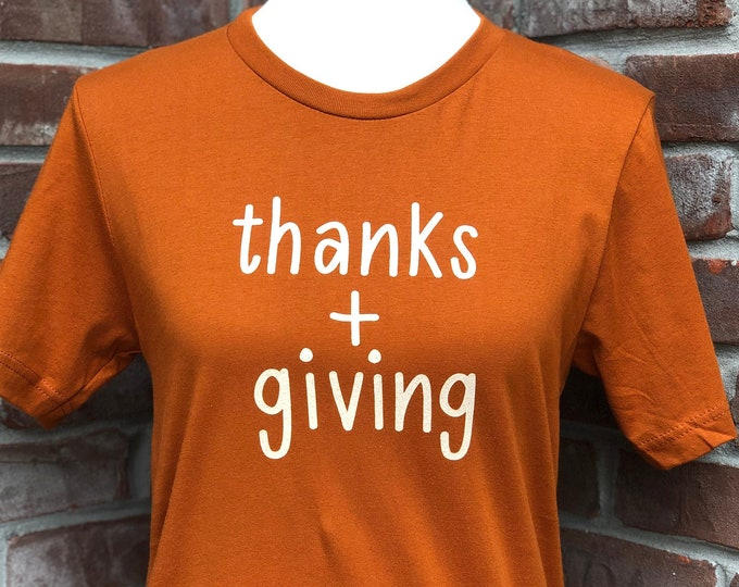 Featured listing image: thanks + giving tee