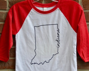 Indiana line art youth tshirt.