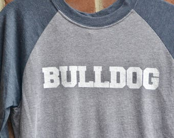 Bulldog tee in raglan baseball 3/4 sleeve length style