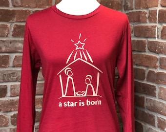 Christmas nativity tshirt.