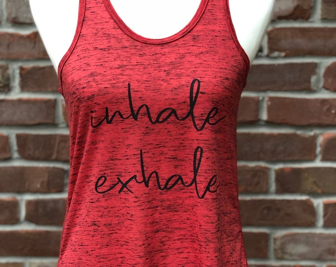 Featured listing image: inhale exhale flowy racer tank.