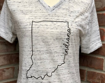 Indiana line art tshirt short-sleeved.
