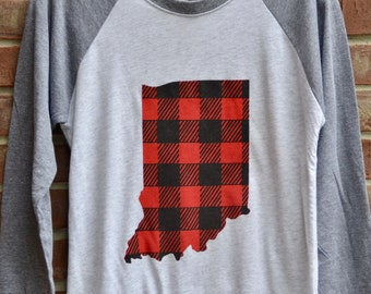 Indiana Buffalo plaid tshirt.