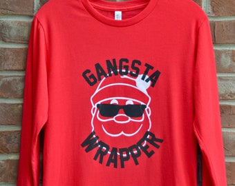 Gangsta Wrapper Santa tee.