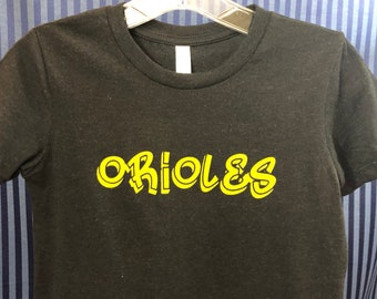 Orioles youth tshirt.