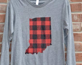 Buffalo plaid Indiana tee.
