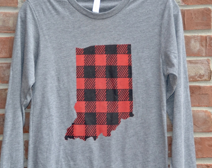 Featured listing image: Buffalo plaid Indiana tee.