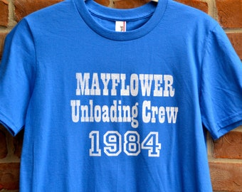 Mayflower Unloading Crew tshirt. Colts fan shirt. Indianapolis Colts loyal fan. Vintage Indy shirt. Unisex Colts tshirt.