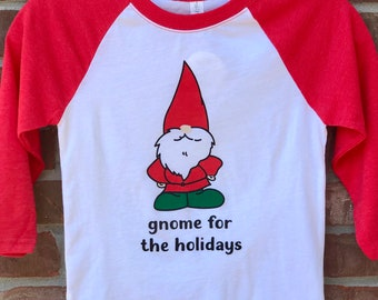gnome for the holidays youth tee.