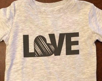 Love graphic tee in infant and toddler sizes.