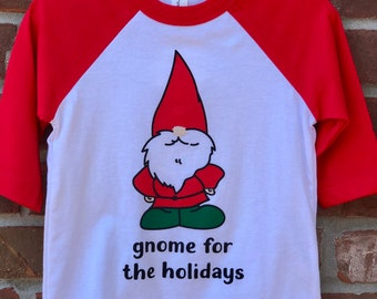 gnome for the holidays toddler tee.
