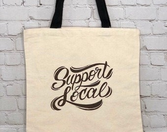 Support local canvas tote.