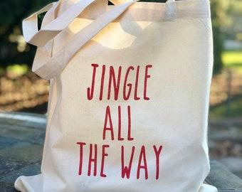 Jingle all the way tote