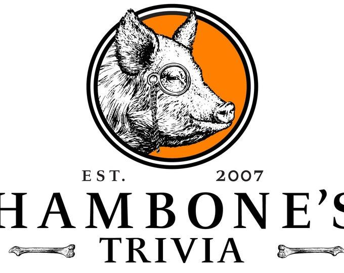 Featured listing image: Hambone's trivia hoodies and tshirts
