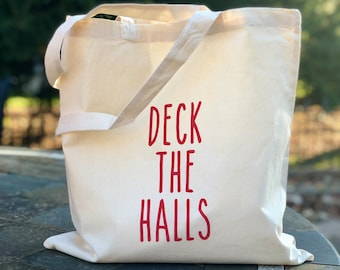 Deck the Halls tote