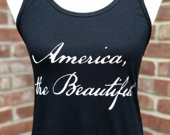 America the Beautiful ladies' tank top.