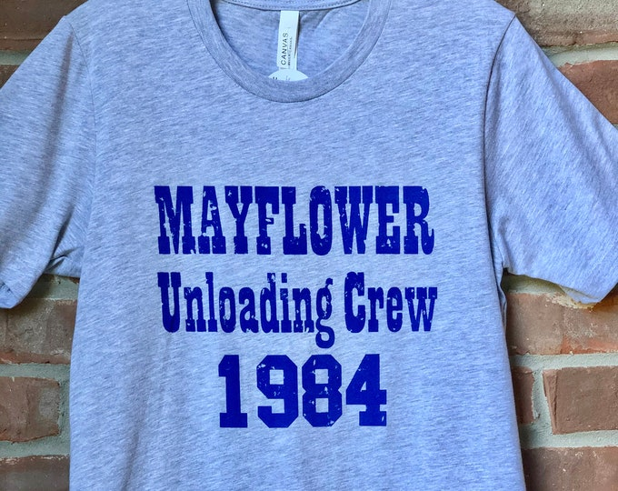 Featured listing image: Mayflower Unloading Crew tshirt. Colts fan shirt. Indianapolis Colts loyal fan. Vintage Indy shirt.