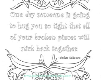 Quote Coloring Page