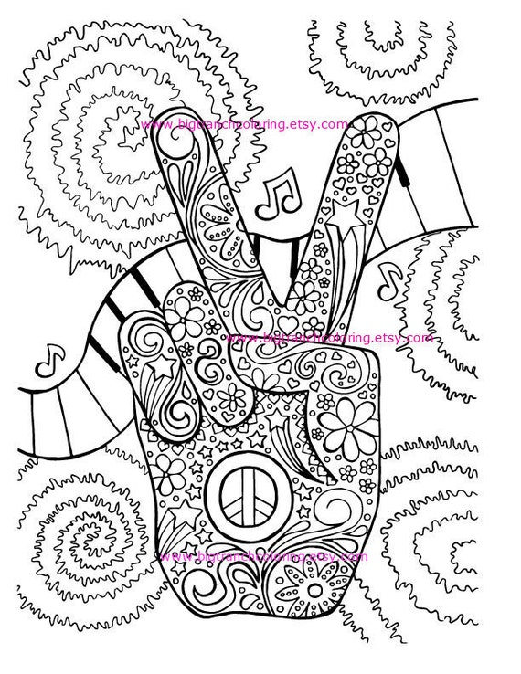 Free Cool Hippie Coloring Pages, Download Free Clip Art, Free Clip ... | 738x570
