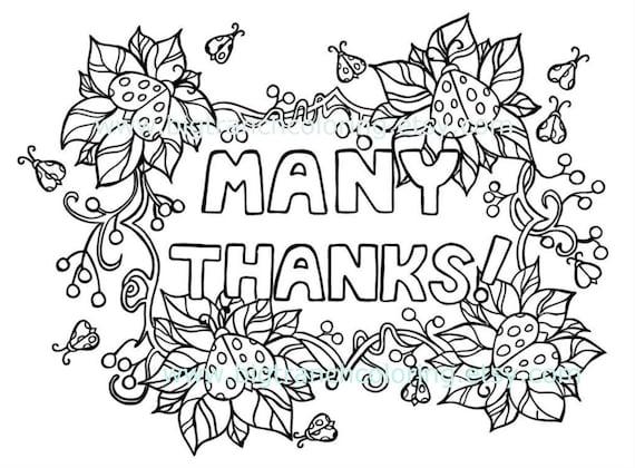 Muchas gracias mariquita Adult para colorear | Etsy