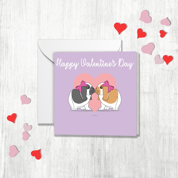 Gay Valentines Card Otter Couple Boyfriend or Husband Valentines day card