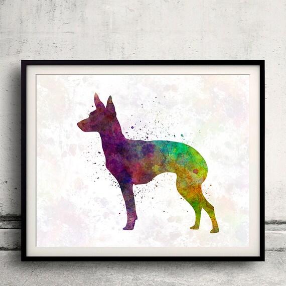Chihuahua 2 Hund 20x25 Kunstdruck Aquarell Poster Art Print