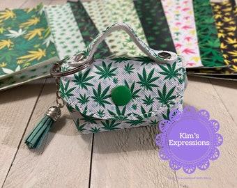 Cannabis Mini Purse Keychain, Purse, Marijuana, Mary Jane