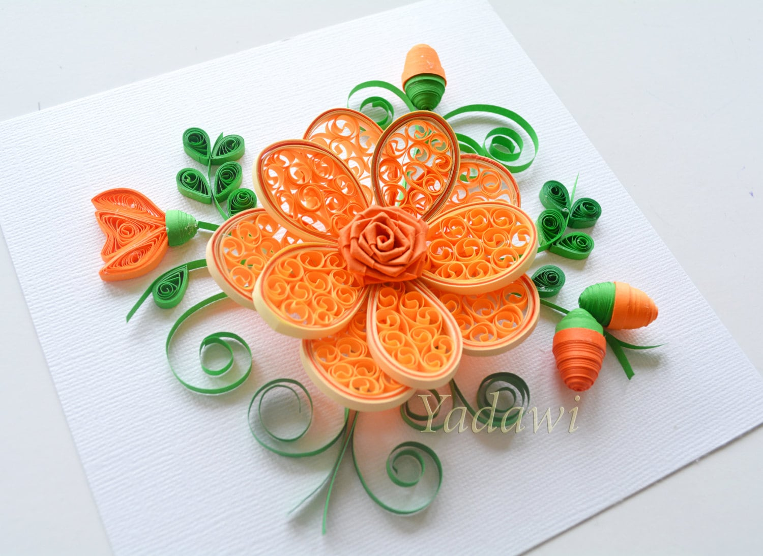 Quilled Paper Art Quilled Flower Paper Wall Art 3d Paper Etsy
